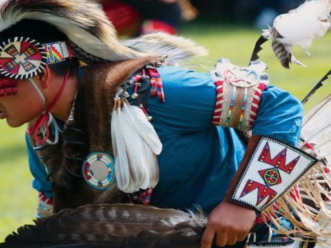 Pow Wow anual no Plains Indian Museum (Museu de indígenas das planícies)