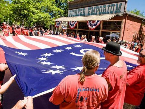 Gloriosa celebração de 4 de julho de Columbia