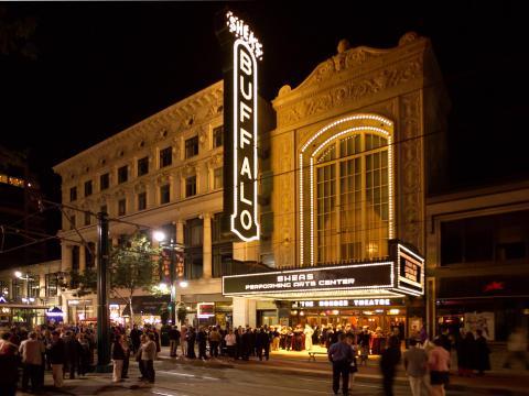 O Buffalo Theater (Teatro de Buffalo), local das apresentações do Curtain Up!