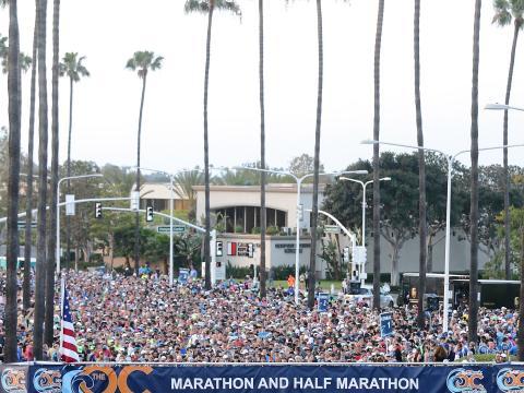 Corredores preparados na Maratona do condado de Orange