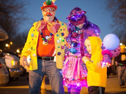 Tudo preparado para o Mardi Gras, estilo Baton Rouge