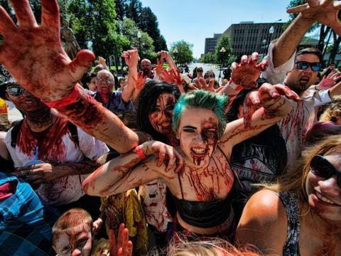 Entrando no espírito da Zombiefest