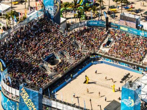 Torneio de vôlei de praia SWATCH FIVB em Fort Lauderdale