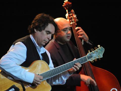 Instrumentistas no Freihofer's Saratoga Jazz Festival
