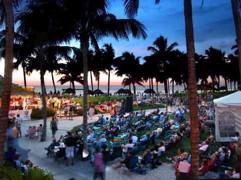 Série de músicas no SummerJazz on the Gulf em Naples, Flórida