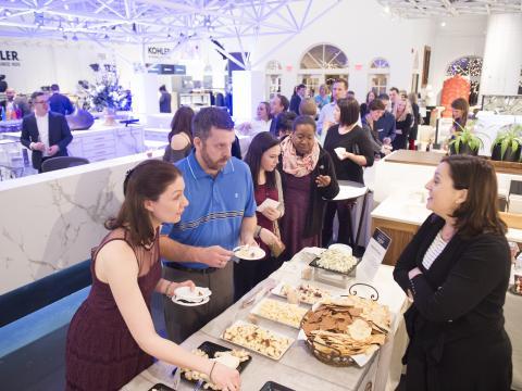 Degustação de diferentes sabores no evento In Celebration of Chocolate, em Kohler