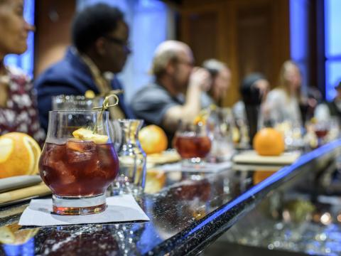 Um evento de degustação de bourbon em Louisville, Kentucky